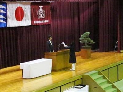 平成28年度 育友会 卒業記念品贈呈式
