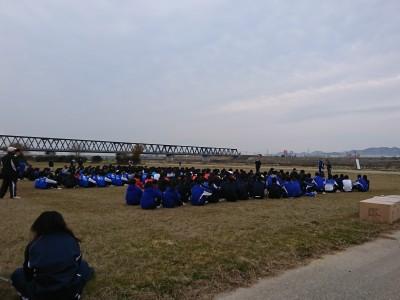 加古川河川敷清掃ボランティア活動