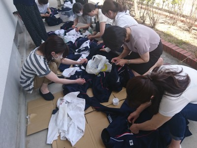 文化祭 制服リサイクル販売の準備